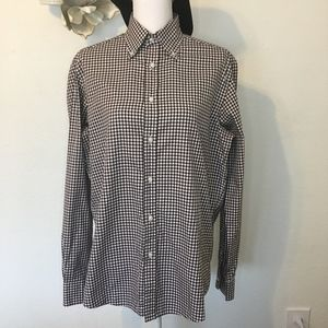 Ralph Lauren Purple Label Dress Shirt Plaid Brown